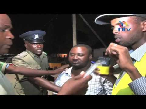 Drama as drunk drivers are arrested in NTSA's Mtwapa swoop