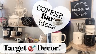 DECORATE WITH ME| COFFEE STATION| TARGET DOLLAR SPOT DECOR
