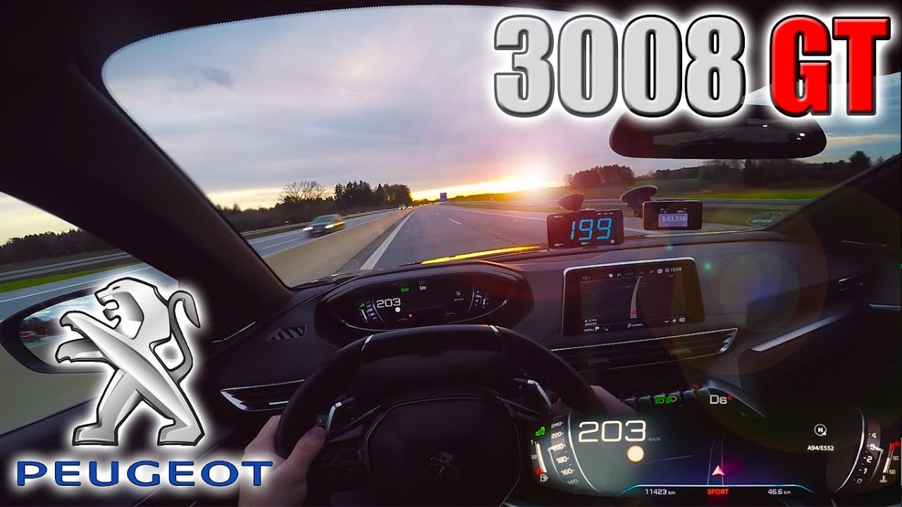 2018 Peugeot 3008 GT (0-205 km/h) POV- TOP SPEED, Acceleration TEST✔