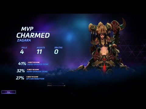 Heroes of the Storm with Charmed My Professional Desert Queen Zagara Legendary Zero Death
