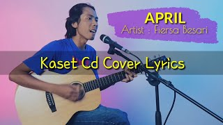 Gambar cover Fiersa Besari - April (Cover By KASET CD)