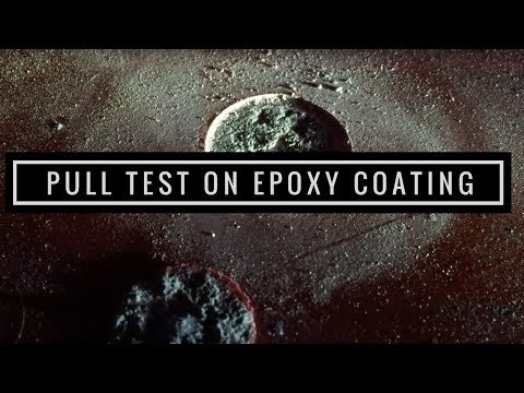 Pull-Test on Epoxy Coating using Elcometer 106 Adhesion Tester
