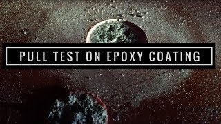 pull test on epoxy coating using elcometer 106 adhesion tester