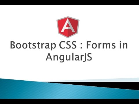 Part 9 Bootstrap Css Forms Angularjs Youtube