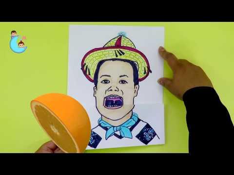Crea tu niño de la canción movimiento naranja que abre la boca 🍊 Comete una Naranja 🍊