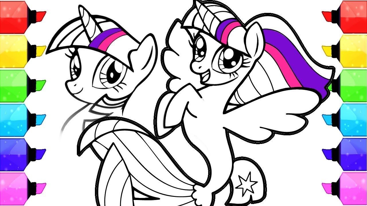 My Little Pony Coloring Book Pages How To Draw And Color My