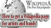 How to Create a Wikipedia Article - YouTube