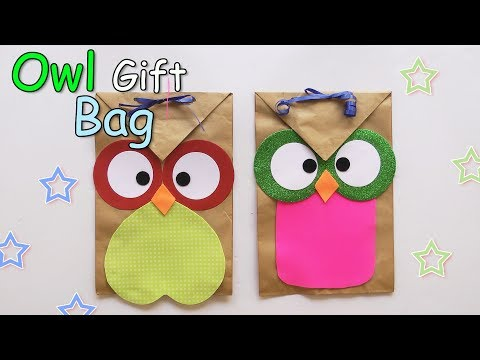 Owl Paper Gift Bags - Ana | DIY Crafts