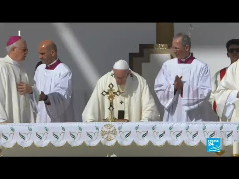 Pope Francis holds historic public mass for 170,000 Catholics
