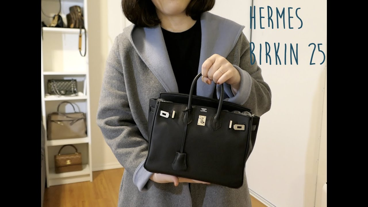 61b53a6f44 Hermes Birkin 25 Detailed Review   Comparison to Kelly 28 - YouTube