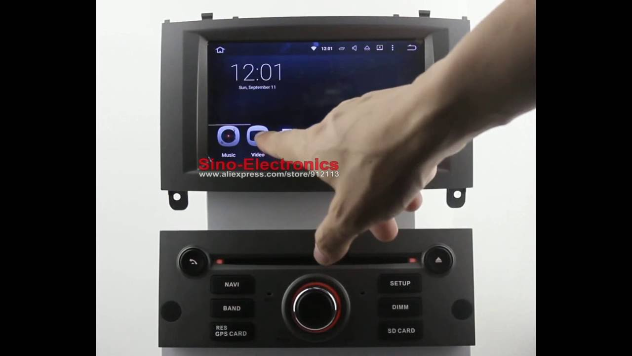 1024x600 android 5 1 car dvd gps for peugeot 407 youtube. Black Bedroom Furniture Sets. Home Design Ideas