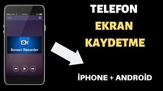 İphone Ve Androİd Ekran Kaydi/ekran Vİdeosu Çekme Programi  Rootsuz   2019