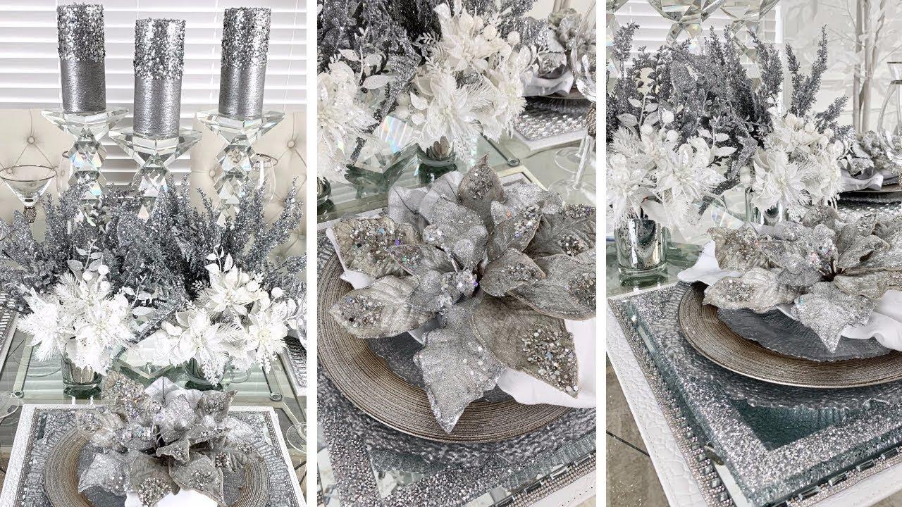 diy dollar tree christmas decor hobby lobby diy holiday glam tablescape ideas