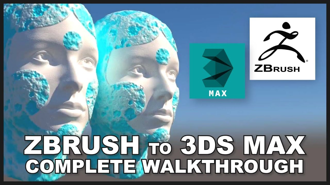 TUTORIAL - Zbrush to 3DS Max VRAY Displacement Walkthrough