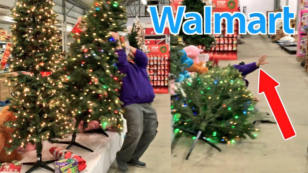 RKOing CHRISTMAS TREES in WALMART! - YouTube