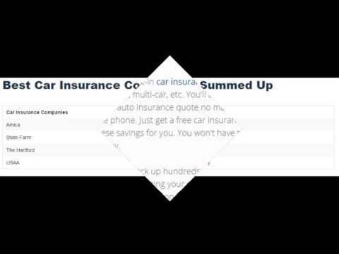 List of united State Auto Car  Insurance Companies