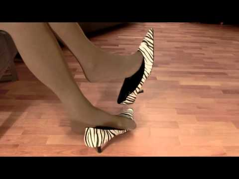 Zebra Shoes on chair 2