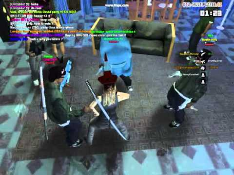 Awesome party in Davids house in GTA San Andreas Online