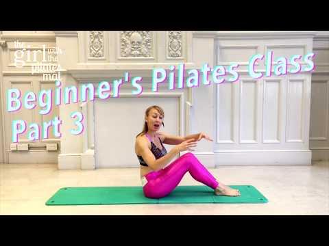 Beginner Pilates Class Part 3 of 4 Full Beginner's Class, Absolute Basics!