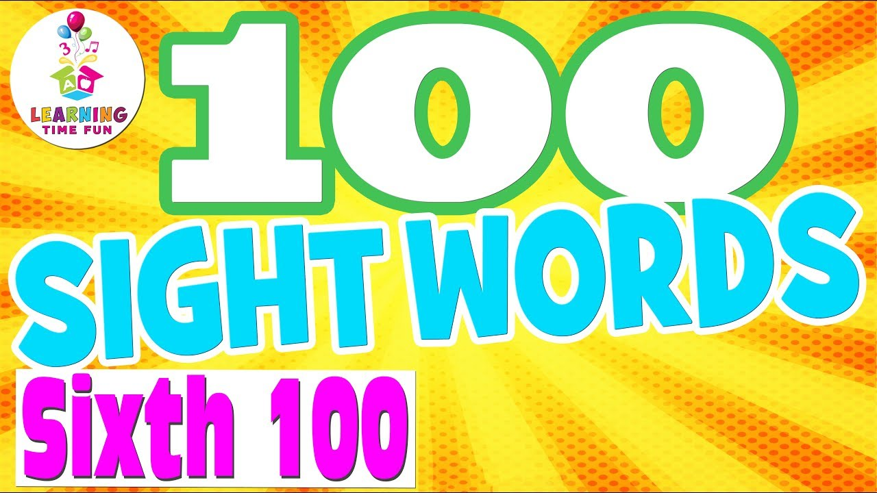 100 sight words for kids