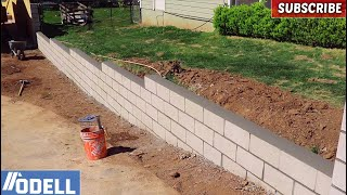 How to Build a Retaining Block Wall