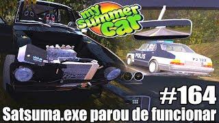 My Summer Car - FUGI DA POLÍCIA E BATI O CARRO! #164 ‹ Getaway Driver ›