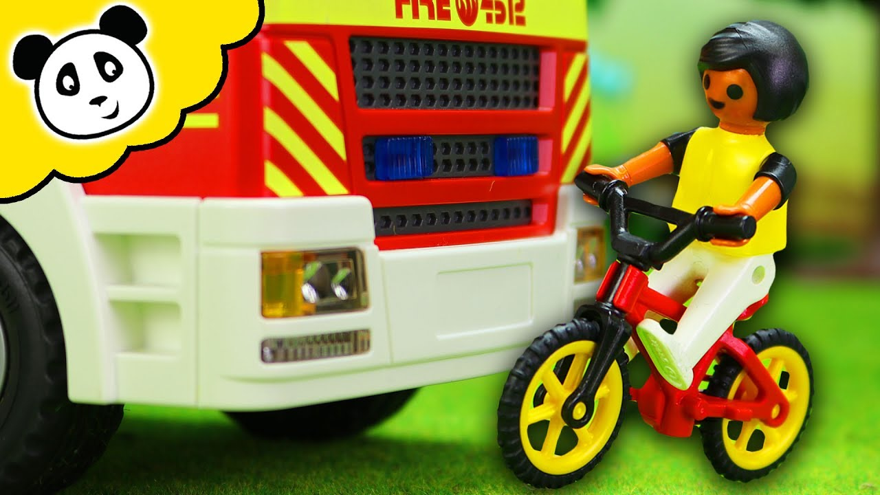 Playmobil Feuerwehr Autounfall Junge Muss Ins Krankenhaus