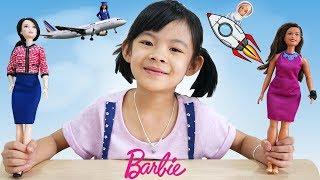 Trò Chơi Hóa Thân Búp Bê Barbie Nghề Nghiệp Vui Nhộn ❤ AnAn ToysReview TV ❤