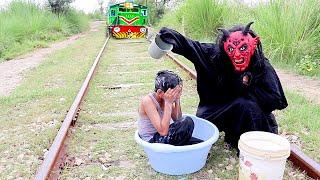 Train Vs Shaitan   Moral Stories for boys   Shaitan ki Chal