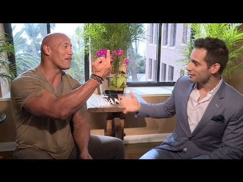 The Rock flips me off during MOANA interview, How singing in WWE helped his career