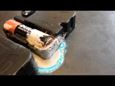 leaking battery corrosion on clocclock youtube. Black Bedroom Furniture Sets. Home Design Ideas