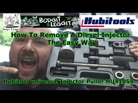 How To Remove A Diesel Injector The Easy Way Hubitool Universal Injector Puller HU41055