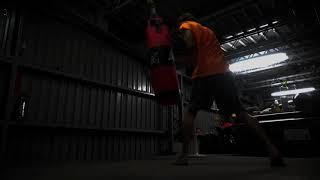 ガレージ サンドバッグトレーニング Garage training punchingbag thumbnail