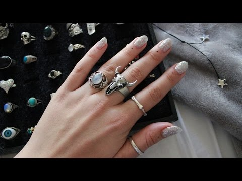 my ring collection // silver, moonstone, vintage etc. //2016