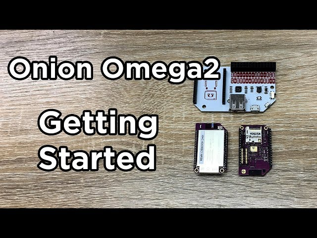 Getting started with your Onion Omega2/2+ - Tutorial Australia