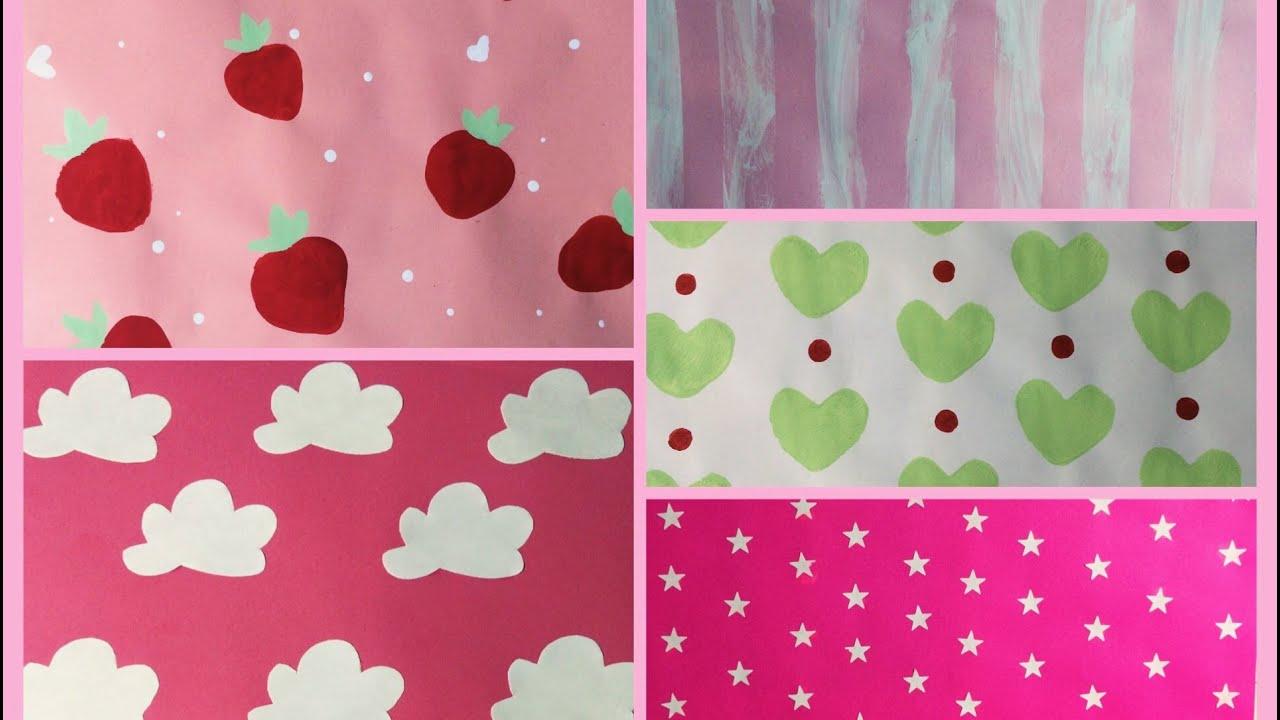 Papel scrapbook femenino como hacer hojas decorativas - Hojas decoradas para ninas ...