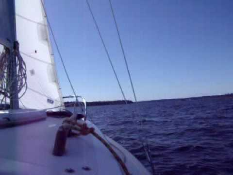 West Wight Potter 19 Dare On Case Inlet In 15 To 25 Knot Wind