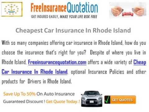 Cheapest Car Insurance In Rhode Island