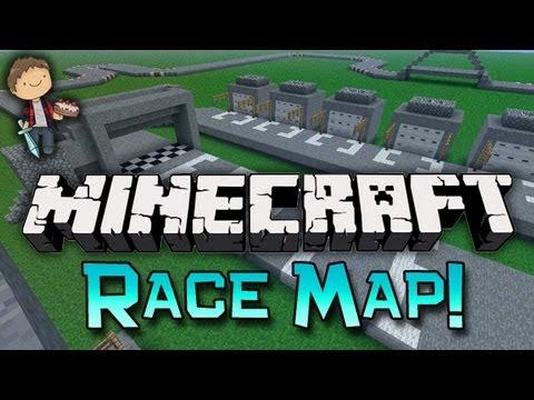 Minecraft: RACING MAP! Race Mini-Game w/Mitch & Jerome!