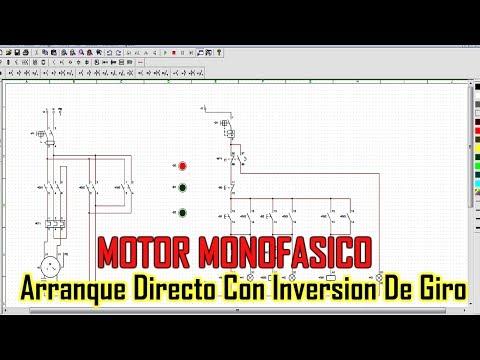 ARRANQUE DIRECTO CON INVERSIÓN DE GIRO MOTOR MONOFASICO