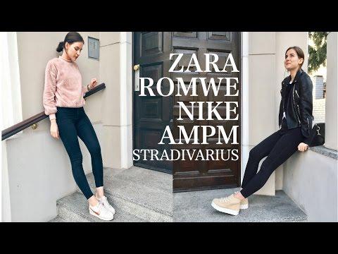 ПОКУПКИ ОДЕЖДЫ + примерка /Romwe Zara Nike Stradivarius