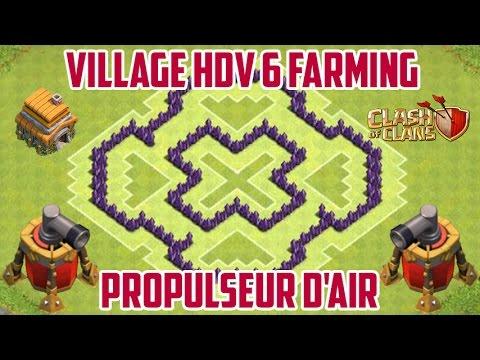 clash of clans village hdv 6 farming propulseur d 39 air th6 fr hd youtube. Black Bedroom Furniture Sets. Home Design Ideas