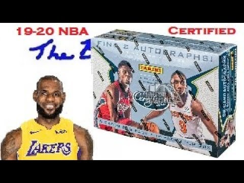 2019-20-certified-nba-trading-cards-hobby-box-opening-19-20-basketball-at-joe's-card-shop-in-phoenix