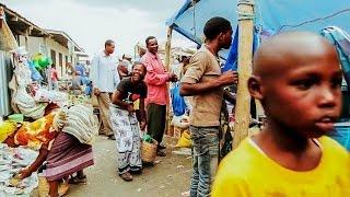 African travel. African market - Ngarenanyuki village, Tanzania, Africa.