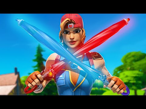 Winning Using Only The Umbrella In Fortnite...