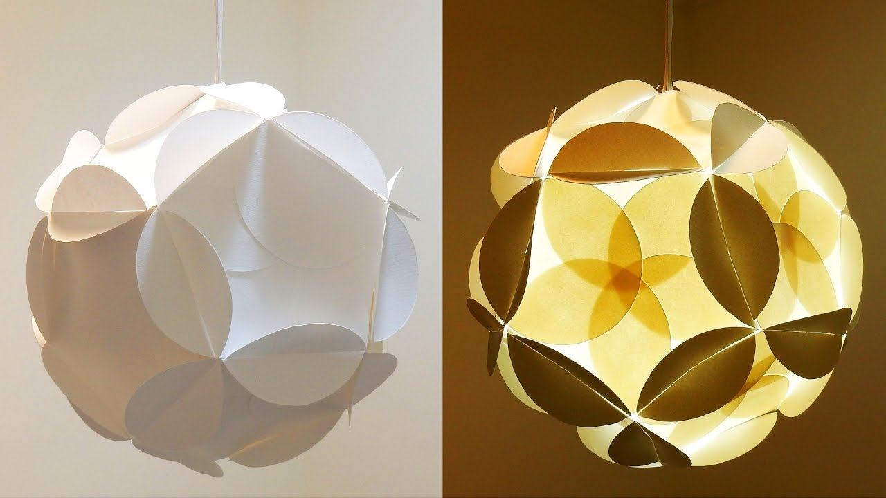 Shadow Star Lamp How To Make A Spherical Lampshade Covered With Flowery Stars Ezycraft