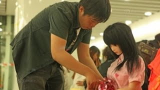 Depressed Chinese Man Treats Realistic Looking Doll as His Daughter