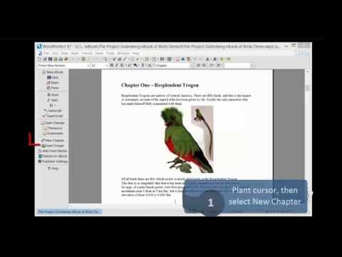 WordPerfect eBook Create Chapter and Publish