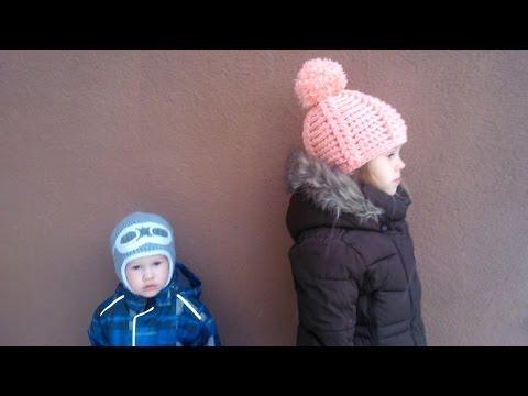 Детские шапки крючком зимние шапки