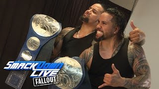 The Usos get photographed as new SmackDown Tag Team Champs: SmackDown LIVE Fallout, Mar. 22, 2017